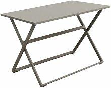Table de jardin pliable rectangulaire en Aluminium