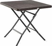 Table de jardin pliable table pliante carrée dim.