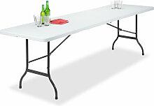 Table de Jardin Pliant Plastique Portable Valise