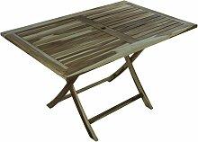 Table de jardin pliante 135 x 85 cm en bois de