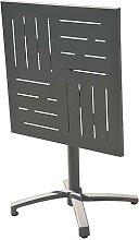 Table de jardin pliante carrée en aluminium -