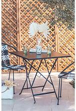Table de jardin pliante en acier (77x77 cm) Dreh
