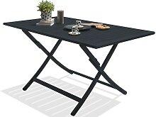 Table de jardin pliante en aluminium 140x80 -