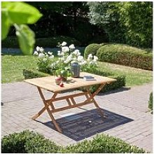 Table de jardin pliante en bois d'acacia fsc