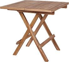 Table de jardin pliante en bois de teck couleur