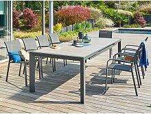 Table de jardin rectangulaire aluminium Evasion 10