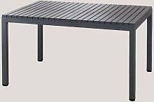 Table de jardin rectangulaire en aluminium