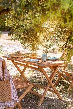 Table de jardin rectangulaire en bois de teck