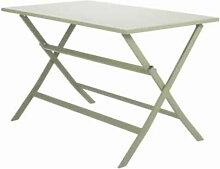 Table de jardin rectangulaire pliable en aluminium