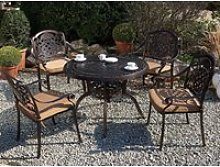 Table de jardin ronde ø 102 cm en aluminium