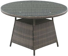 Table de jardin ronde 6 personnes - Diam. 120 x