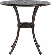 Table de jardin ronde ø 65 en aluminium marron