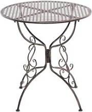 Table de jardin ronde amanda , bronze