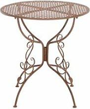 Table de jardin ronde amanda , marron antique