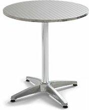 Table de jardin ronde en aluminium