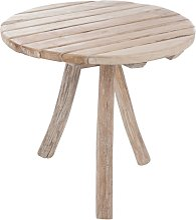 Table de jardin ronde en bois 75cm