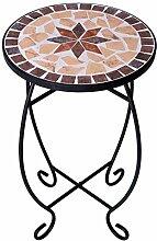 Table de Jardin terrasse mosaïque Tabouret Fleurs