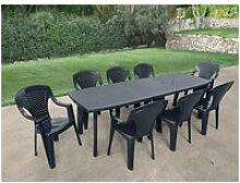 Table de jardin vendue seule table de jardin avec
