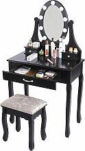 ® Table de Maquillage Coiffeuse avec Miroir