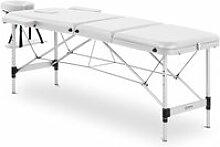 Table de massage cadre aluminium revêtement pvc