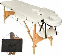 Table de massage crème 2 zones avec sac de