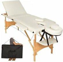 Table de massage crème 3 zones avec sac de