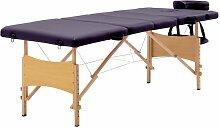 Table de massage pliable 4 zones Bois Violet