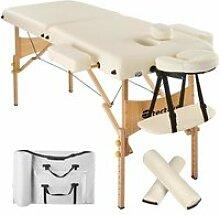 Table de massage pliante 2 zones 7,5 cm