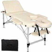 Table de massage pliante 3 zones aluminium