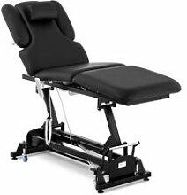 Table de massage professionnel métal et cuir