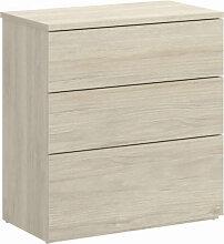 Table de nuit 3 tiroirs bois naturel IberoDepot