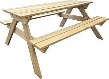 Table de pique-nique 150 x 135 x 71,5 cm Bois -