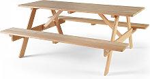 Table de pique nique en bois marron