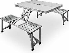 Table de pique-nique portable - Aluminium avec