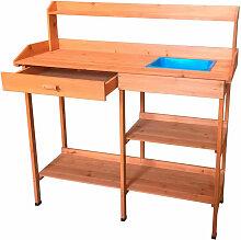 Table de Préparation Jardinage Kalvin 44x116x125