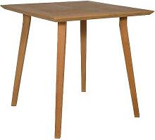 Table de repas carrée en teck naturel IberoDepot
