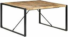 Table de salle à manger 140x140x75 cm Bois de