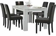Table de salle à manger (blanc) + 6 chaise de