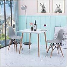 Table de salle à manger blanc carrée 2 à 4