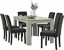 Table de salle à manger (chêne) + 6 chaise de