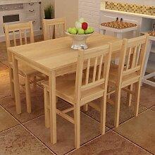 Table de salle à manger en bois avec 4 chaises