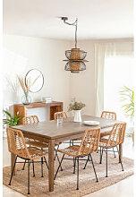 Table de salle à manger extensible en bois Zale