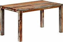 Table de salle à manger Gris 140x70x76 cm Bois de