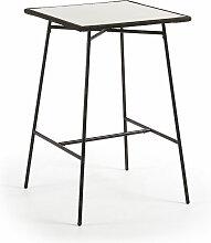 Table de salle à manger haute Leora carrée 70 x