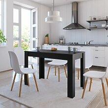 Table de salle à manger Noir 120 x 60 x 76 cm