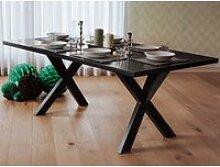 Table de salle à manger noire lisala 13040