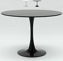 Table de salon Tulip ronde noir et blanc 120 cm