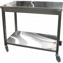 Table de service inox soudée - l2g - 600