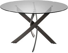 Table design ronde gris anthracite JAZZY