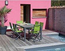 Table en aluminium et plateau trespa Stoneo 180 cm